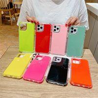 Чехол для телефона SHSCASE для iPhone 12 11 Pro Max XS XR 7 8 плюс SE 2 Candy Color Cover молодой защитный оболочкой