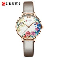 Curren 9059-PD Zarif Bayanlar İzle Marka Kuvars 3bar Su Geçirmez Darbeye Dayanıklı İzle Moda Deri Bayan Renkli Akıllı Saat