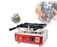 شحن مجاني ~ الكهربائية 110 فولت 220 فولت 220 فولت -240 فولت النمط الياباني كريم تايياكي آلة السمك مخروط وافل صانع