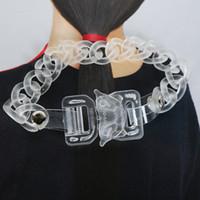 1017 Alyx 9SM Pulseras transparentes Hombres Mujeres Classic Alyx Cadena Pulsera de alta calidad Matte Transparente Plástico Hebilla de seguridad F1201