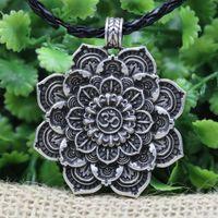 Langhong 10 pcs legendry tibet espiritual colar tibet mandala pingente colar geometria amuleto religioso jóias j1218