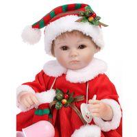 40cm Poupées en silicone de silicone à la main de 40 cm de tout-petits bébé bébé jouets doux jouets poupées pour renaître cadeau de Noël