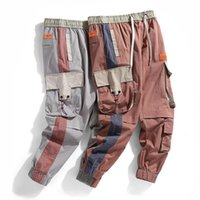 SFABL Fashion Rubans Cargo Pantalons Hommes Joggers Pantalons High Street 2020 Mode Taille élastique Big Pocket Mens Pantalon Casual Brand Marque