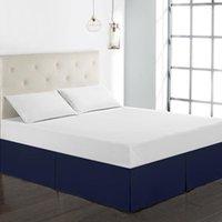 ¡¡Envío gratis!! Venta caliente Hotel Casa Falda de cama 8 colores Microfibra Tela Sólido polvo volante Rey / Queen / Full / Full / Twin Size Casa cubierta