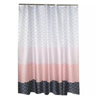 Moderna tenda da doccia geometrica tenda in poliestere impermeabile tenda da bagno per bagno decorare con ganci in plastica EWB4872
