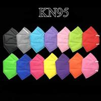 13 colori KN95 Masks Factory Factory 95% filtro Maschera per il viso colorato Attivato carbonio respirazione del carbonio Valvola 5 Layer Designer Facemask
