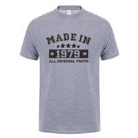 Herren T-Shirts Mode hergestellt 1979 T-shirts Männer Baumwolle lustig Kurzarm Geburtstagsgeschenk T-shirt Tops T-Stückkühlung Mans T-Shirt Jl-130