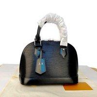 Yeni 2021 Klasik Çanta El Yüksek Kaliteli Kabuk Deri Çanta Dalgalanma Renk Su 5 Omuz Küçük Alma PM Kadın Patent Çanta Orijinal Spiag