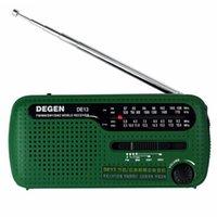 Radio Leggero Home con LED Light Stereo Vintage USB FM MW SW Purvella a mano Emergenza portatile Solar