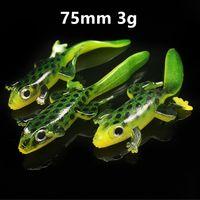 20 قطعة / الوحدة 75 ملليمتر 3 ز 3d عيون إليوت الضفدع سيليكون الصيد إغراء الباري لينة السحر pesca الصيد معالجة B148_198
