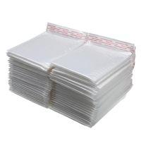 Envelope de espuma branca sacos auto selo mailers Envelopes acolchoados com pacotes de discussão bolha