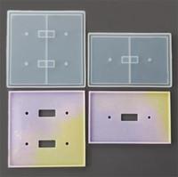 راتنجات الايبوكسي سيليكون قوالب مزدوجة هول العفن ديي مرآة العفن 2 قطع دعوى 3d غرفة شفافة قابلة لإعادة الاستخدام سهلة demoulding 8NF O2