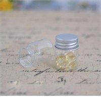 Мини-четкие стеклянные бутылки флаконы алюминиевая шапка крошечный стеклянный стеклянный бутылкой закуска для хранения сахара контейнер свадьба украшения Jllmlq