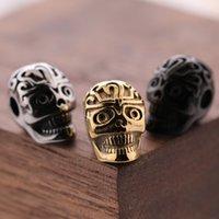 Nouveau breloque bricolet à bricolage à la main de haute qualité breloques 13 * 8mm Or / argent / Noir Plated Inox Steel Charms de crâne
