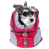 في الهواء الطلق الكلب الناقل حقيبة الحيوانات الأليفة الكلب النايلون الجبهة مزدوجة حقيبة الكتف شبكة ظهره رئيس للقطط المحمولة s l الكلب السفر حقيبة الظهر LJ201201