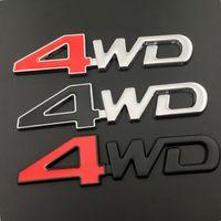 Car Styling 3D Metal 4WD Badge Decal Car Sticker For Toyota Audi Abarth Buike Cadillac Holden Infiniti Jaguar Alfa Romeo Pontiac