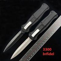 Benchmade BM 3300 Infidel Double Action Pieghevole Coltello automatico D2 Blade Maniglia in alluminio Pocket da esterno Tactical Tactical Survival Knife BM 3310
