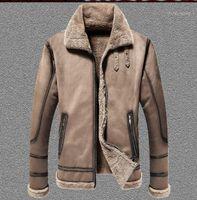 Forreto dos homens Faux Inverno Moda Homens Grosso Um Cordeiro Moose Moose Casacos De Couro Europa e Os Estados Unidos Grande Jaqueta Men1