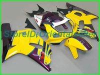 Custom Yellow Roxo AE024 Kit de Feira para Suzuki GSXR 600 750 K1 2001 2002 2003 GSXR600 GSXR750 01 02 03 Kit de feiras de motocicleta
