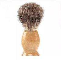 2020 парикмахерские волосы бритвы бритвы кисти новая деревянная ручка барсука щетка для белья для лучших мужчин подарок парикмахерский инструмент мужской уход за лицом