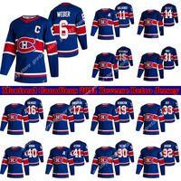 Montreal Canadiens Jersey 2020-21 Reverse Retro 14 Nick Suzuki 6 Shea Weber 31 Carey Prezzo 11 Brendan Gallagher 10 Guy Lafleur Hockey Jersey