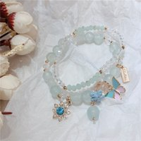 Coréen Mashan Jade Deux Morceau Set Dame Style Butterfly Lady Summer Bracelet Production Bracelet Cristal Butterfly Crystal 67 N2