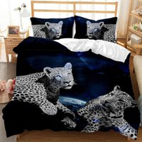 BEST.WENSD Reactive Printing Fierce animal lion series Duvet Cover Sets US CalifKing queen size bedding sets 3 pcs Dropship