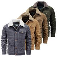 Männliche Jacke Warme Winter Männliche Jacke Casual Cord-Mäntel Männer Mode Jacken Mens Oberbekleidung Windjacke Markenkleidung