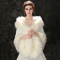 2020 Faux Fox Fur Wraps para Casacos Bolero Jaquetas Vestidos de Noite Cape Cape Dos Jaqueta Casaco Noiva Pele De Encaminho Xaile Cloak Inverno Quente BD019