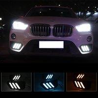 1 пара автомобилей дневное время под управлением рулевой свет DRL светодиодный дневной свет бегущий свет противотуманный фонарь на 2015-2019 BMW X1 F48 F49