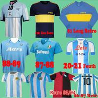 Diego Maradona Retro Camisas de futebol 1986 Argentina Camisas de futebol vintage 93 94 Newells Old Boys 1981 Boca Juniors Napoli 87 88 Nápoles