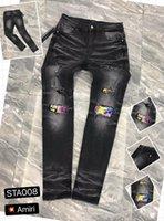 D2 2020 new men D2 jeans mens luxury designer jeans 9131 Skull PP jeans rhinestones Ripped causal hole Denim fashion brand black men Was VZY