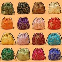 DAMASK Creative Creative Creative Silk Bijoux Bijoux Sac 11x11CM Brocade de soie Bijoux Sac de rangement Sac de rangement Personnalisé Drawstring Packaging