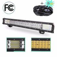 Andere Beleuchtungssystem 7D LED-Arbeitslicht-Bar Triple Row 23inch 324W Auto-Lkw-Kopf-Dach-Stoßfänger-Nebelscheinwerfer freies Schiff