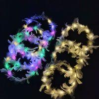 Bague de tête de plume lumineuse à LED Nouvelle peluche LED Coiffe de coiffe de coiffure Lumineuse Toy Decorations Fournitures XD24476