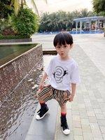 2021 хлопковые футболки летние дети мальчики девушки с короткими рукавами белая одежда детские тройники