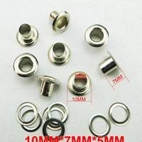 200 pz 10 * 7 * 5mm metallo argento occhiello bottone cucito vestiti accessori accessori eyelets me-042 200pcs jlljij