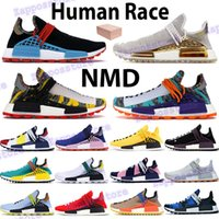 NMD رجل الاحذية سباق الإنسان HU PHARRELL الشمسية الأحمر البرتقالي NERD الأزرق كريم الصين حزمة الذهب الخوخ هوى القرمزي النساء أحذية رياضية