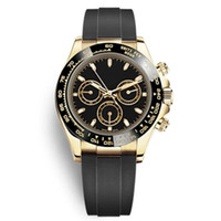 Moda Moda Cerâmica Bezel Preto Relógios Mens Mãos Mecânicos Movimento Automático Gold Watch Sports Fun Away Cronômetro Relógios Relógios Reloj de Hombre