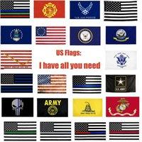 USA-Flaggen US-Armee-Banner Airforce Marine Corp Navy Besty Ross-Flagge Tunt tritt auf mich Flaggen Thin XXX-Linie-Flagge
