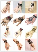 Bracciale anello punk Vintage Steampunk Guanti Guanti da polso Polsino da polso Gear Victorian Bracciali Costume Un braccialetto Accessori Gioielli Accessori Guaristure pizzo