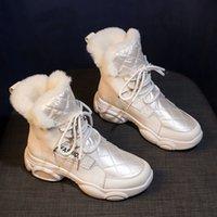 Timalina الشتاء Laarzen Snowboots نمط جديد أزياء الدهون Bodem النساء تعلم الدافئة Pluche قارب الإناث منتصف العجل الأحذية