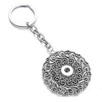 New Snap Jewelry 12mm 18mm Retro botón redondo llaveros llavero colgante para mujeres niñas gi qylhsj