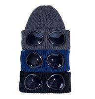 Piloto óculos sólido beanie inverno chapéus para homens mulheres senhoras cuffed crânio cap de malha hip hop harajuku casual esqui culares de esqui ao ar livre natal