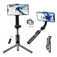 Bluetooth selfie عصا ترايبود 360 ° دوران الهاتف gimbal استقرار السيارات الرصيد 16-axis gimbal الهاتف حامل حامل + مرشح الجمال