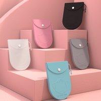 Storage Box 휴대용 실리콘 스토리지 케이스는 오염 방지를위한 저장 케이스 컨테이너 접이식 마스크 커버 백 ZZC2679