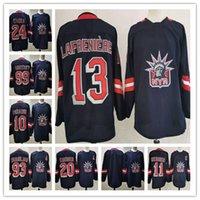 Alexis Lafeniere Nova York Rangers 2021 Reverse Retro Jersey 10 Artemi Panarin 24 Kaapo Kakko Chris Kreider Mark Messier Hockey Jersey
