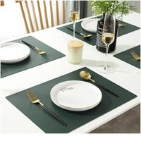 Rectangular Table Mat Pu Leather Placemat Waterproof Greaseproof Pad Kitchen For Dining Table Anti-scalding Insulat sqcllM