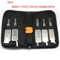 Auto 2 in1 Décodeur et serrure Picks Modèles de voitures Asiatiques 5pcs d'un pack Utilisation pour NSN11 Toy2 Toy43 HON66 MIT8