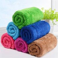Coral Duster doppelt verdicktes absorbierendes Tuch weiche Gesichtshandtuch Küche sauberes Tuch Wischfußboden Wischtabelle WQ293
